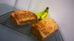 banana and peanut bread
