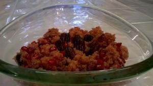 maroon quinoa salad